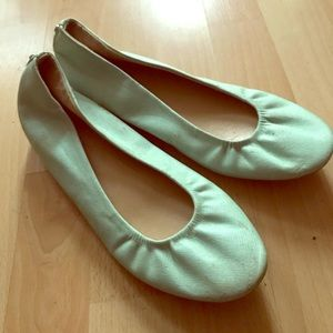 New York & Company Shoes - mint green hidden wedge flats